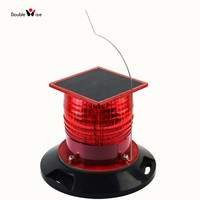 ICAO FAA Aviation Obstacle Warning Solar Powered Building Obstruction Light