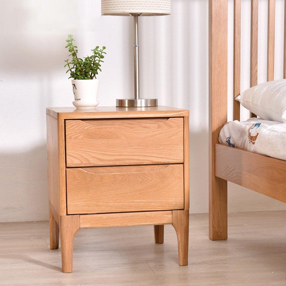 AiHerb.LT nightstand Solid Wood Bedside Cabinet Bedroom Bedside Cabinet Oak Cabinet Storage Lockers