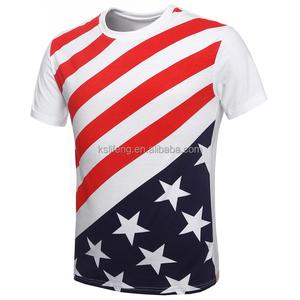 Manufacture Anti-Pilling Custom T-shirt Printing US Flag T-shirts