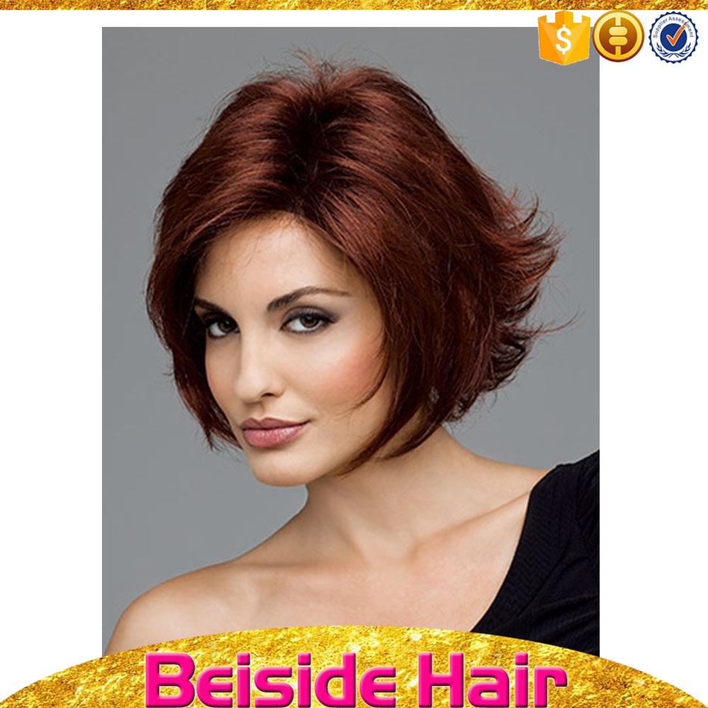 en gros pas cher prix 7a anges synthtique cheveux couleur rouge fonc onduls - Meilleure Coloration Rouge