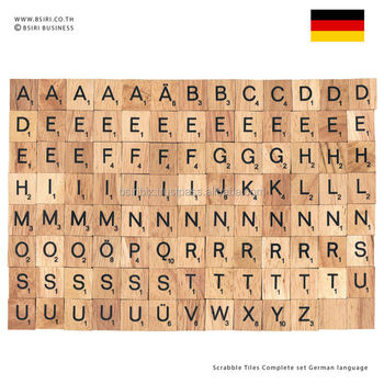 Wooden Letters Scrabble Tiles plete Set German Language Buy