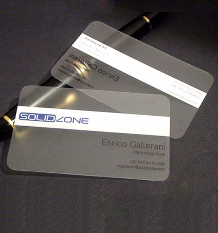 carte de visite pvc Plastic Pvc Business Id Card Printing   Transparent Translucent