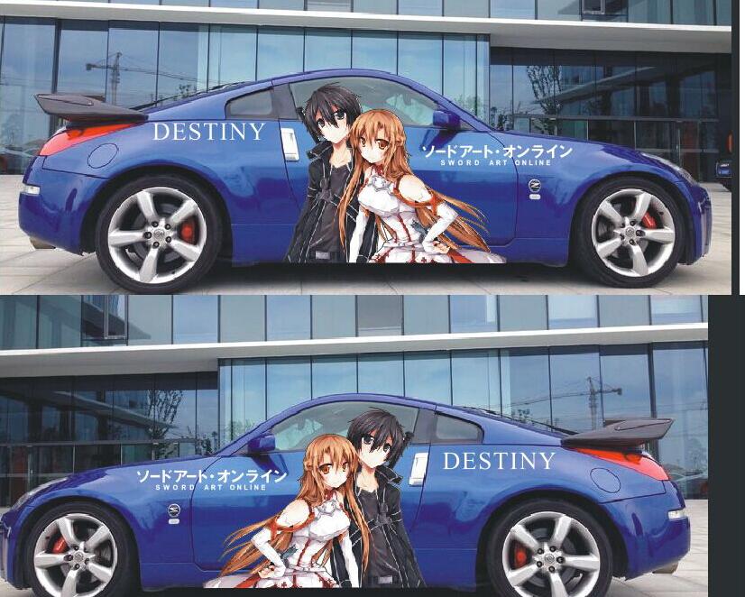 Anime vinyl car wrap maiotaku anime