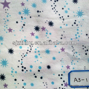 100 printing cotton flannel fabric moon and star fabric for Moon print fabric