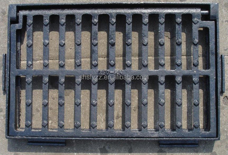 Ductile Iron En124 C250 Traffic Grate,Cast Iron Grille Size 590 ...