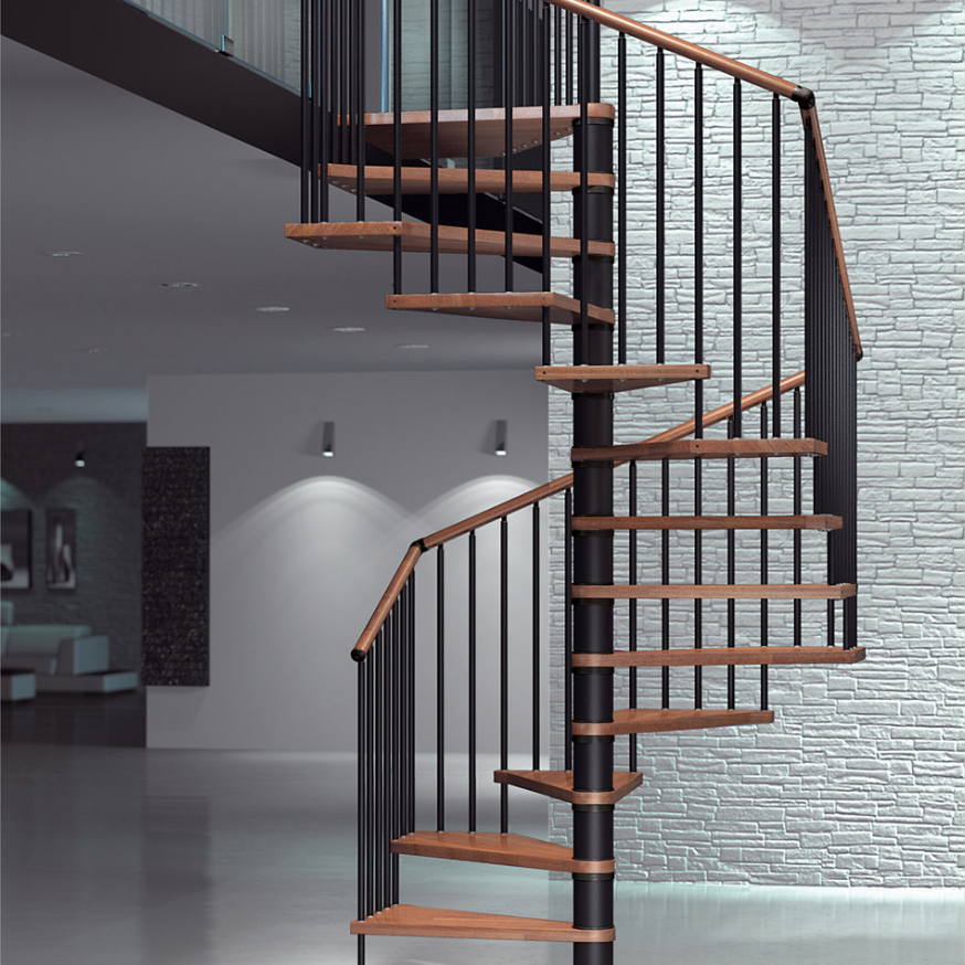 Residential Wrought Iron Stair Parts Wooden Spiral Staircase For Sale, View Spiral  Staircase For Sale, PRIMA Product Details From Shenzhen Prima ...