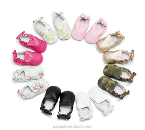 soft sole big bow Baby Girls Newborn Shoes Baby Kids Children leather Shoes