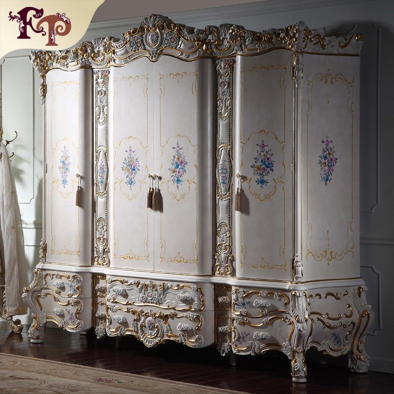 Muebles de dormitorio clásico de lujo mano tallada armario ...