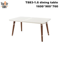 sala sets solid oak furniture wood dining tables and living room chairs T883-1.6