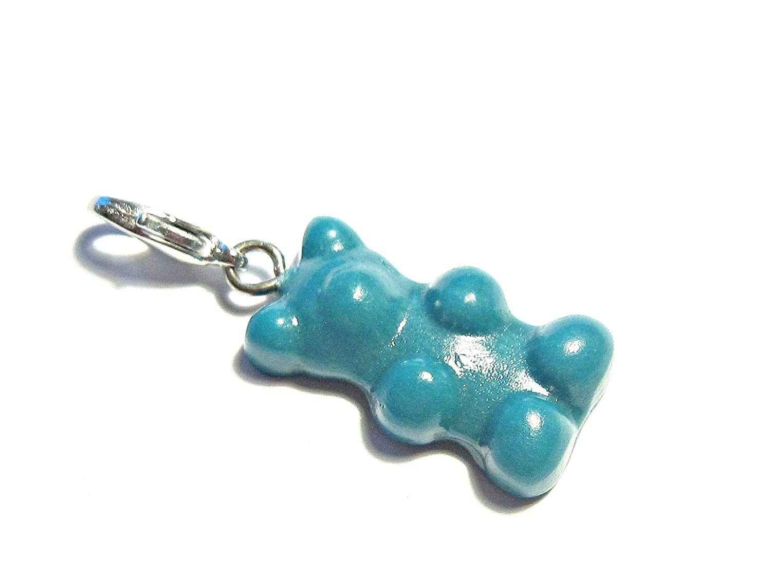 Sterling Silver Right Facing Walking Grizzly Bear Dangle Charm Bead For Bead Charm Bracelet