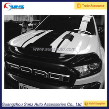 Ford Ranger Wildtrak parts car engine bonnet Black-White 2 Color for ford ranger 2016 hood scoop