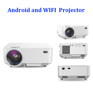 Colorful image mini wifi 3D sound stereo surround LED style video projector/beamer