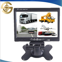 4 Split Color Display 7 Inch Quad Screen Car Monitor