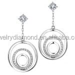 Forever Diamonds 18K white gold Diamond citrine black Forever Bonds Diamonds earring how to find out your earrings size