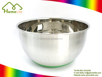 Unique Design Stainless Steel Salad Bowl Set with plastic lid mixing bowl