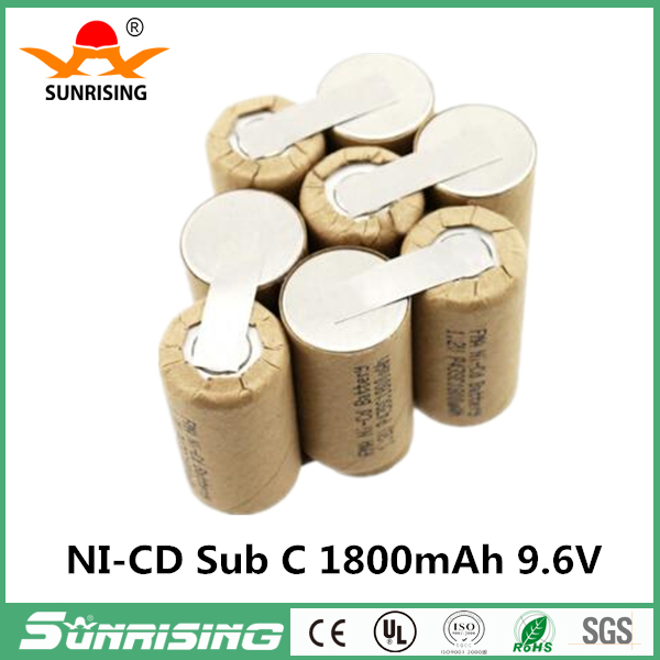 Ni-Cd Battery Sub C 12V 1800mAh for Power tools Screw Drill Electric Screwdriver P42