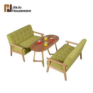 Cafe chaise fabric dining oval table chair set
