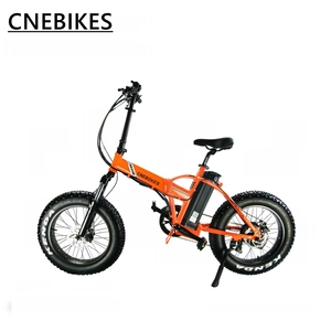 Low price 20 inch 48v 500w black white orange color cheap electric fat tire folding bike