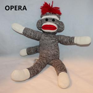 2018 Hot New Cheap Wholesale Custom Animal Crochet Knitted Soft Stuffed Sock Monkey