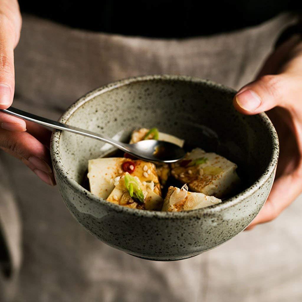 Soup Bowls Ceramic Rice Bowls Japanese style Noodle Bowls Pasta Bowls Bowls light green glaze (Color : White)