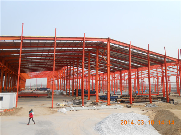 light steel structure building wide span for warehouse/workshop