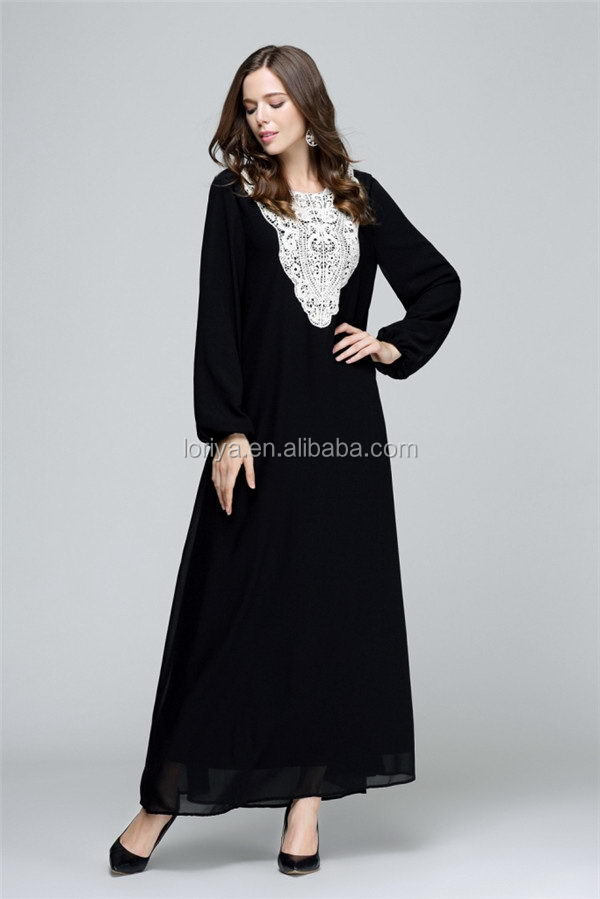 Hot--Selling chiffon embroidered wholesale dubai muslim dress islamic abaya