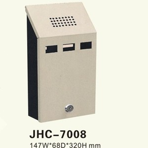 Foshan JHC-7008 stainless steel ashtray bin/wall mounted ashtray/ cigarette box