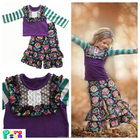 China cheap wholesale baby girls clothes fall winter childrens boutique clothing 2017