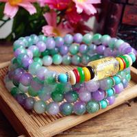 popular 6mm handmade women small crystal bangle natural agate beaded bracelets