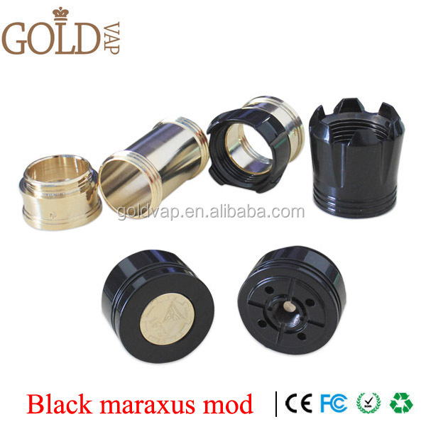watch e-cigs Maraxus mod brass/black/stainless steel mechanical mod e cig tube maraxus mod clone e-cigs vaping mod made in China