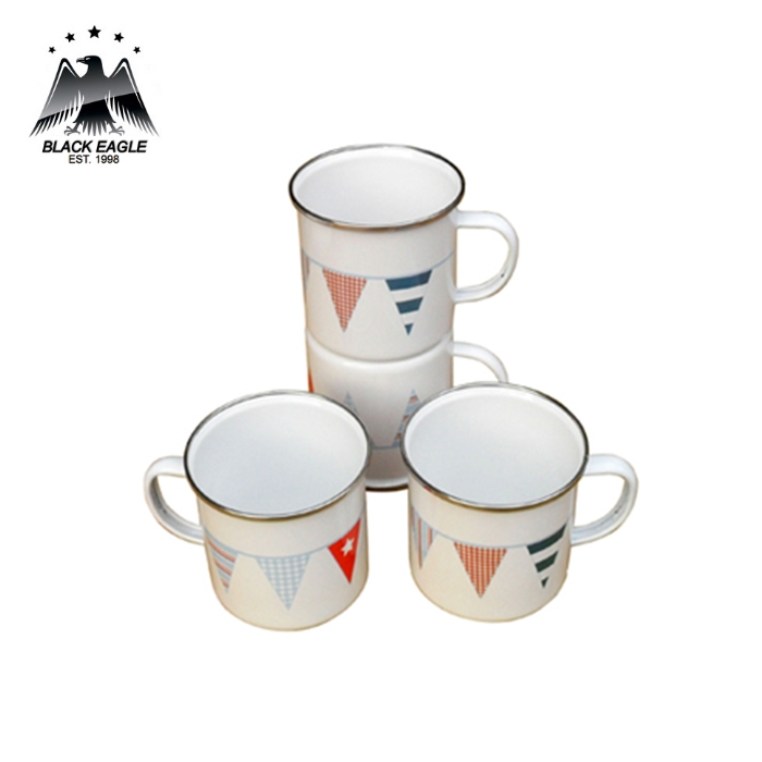 Various sizes logo printing enamel mug set