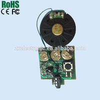 Programmable musical card device ic chip, speaker and battery