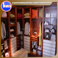 Walk in white laminate bedroom wardrobe cheap bedroom furniture