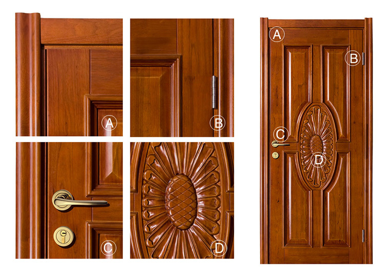 House door kerala door designs solid wood entrance door for Single door designs for indian homes