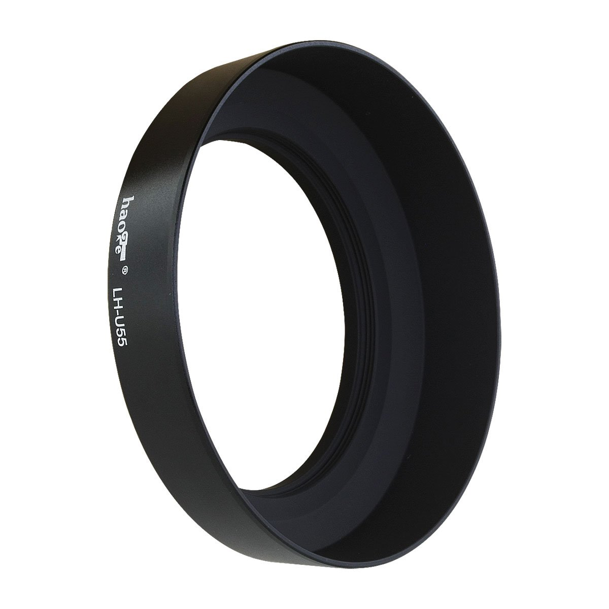 Haoge LH-U55 Universal Round Metal Screw-in Mount Lens Hood Shade for 55mm Canon Nikon Sony Minolta Nikkor Panasonic Pentax Contax Panasonic Olympus Lens and Other 55mm Filter Thread Lens