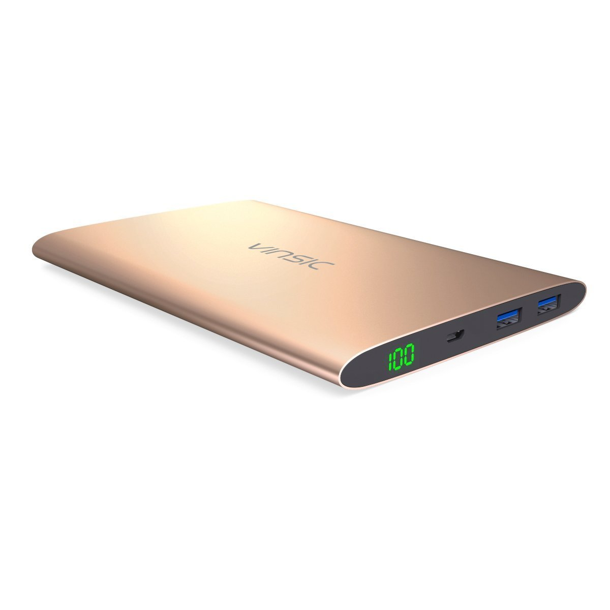 Power Bank, Vinsic 20000mAh Power Bank, Dual USB Port External Mobile Battery Charger Pack for iPhone, iPad, Samsung Galaxy, Cell Phones and Tablets.