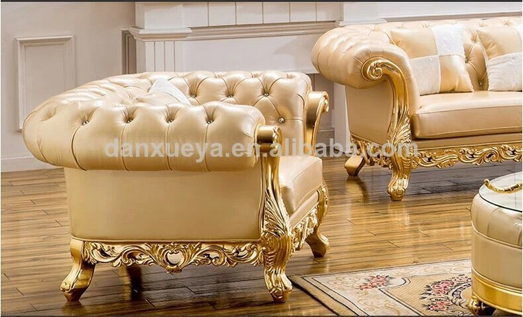 Throne sofa furniture royal furniture danxueya factory Living room furniture for sale in dubai