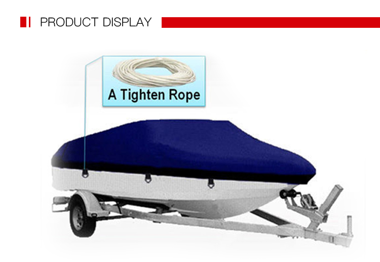 Durable Lightweight Anti-UV Grey Breathable Waterproof Fabric Boat Cover