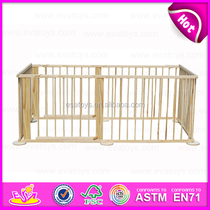 2016 top sale wooden indoor kids play area fence W08H007-J14