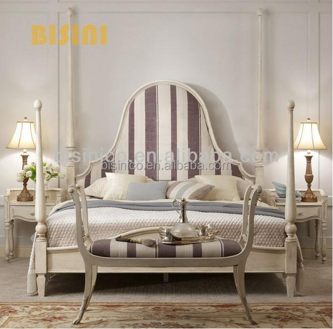 Fran ais de la chambre coucher hortense l gant r tro baldaquin lit king size tradition Chambre a coucher lit king size