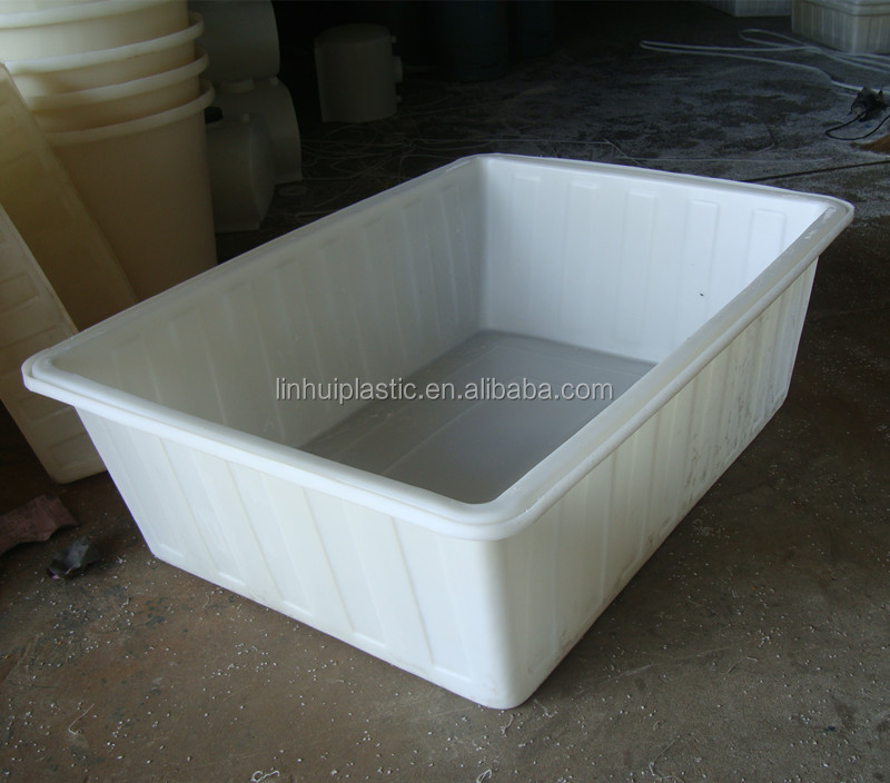 380 litres big rectangular plastic hot tub for aquatic for Plastic pond tub