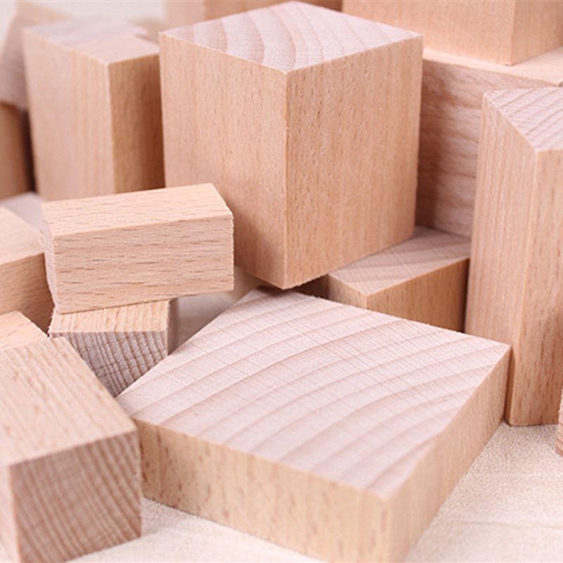 New Customized Blank wooden building blocks <strong>Wood</strong> Pieces Ornaments Embellishment DIY Hand Crafts Decorations