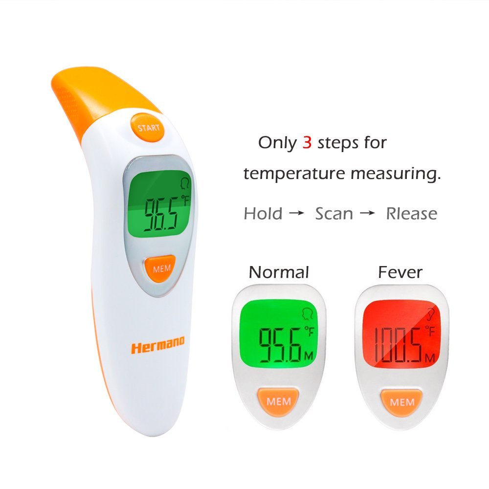 Baby Forehead Ear Fever Infrared Digital Non Contact Thermometer