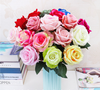 Artificial flowers roses for wedding ,home and party decoration,flute material