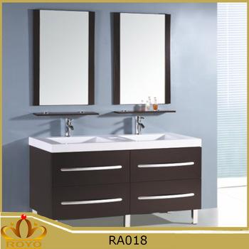 . Cheap Modern Double Basin Sink Free Standing Mdf Bathroom Vanity Cabinet  Ra018   Buy Hangzhou Hot Selling Bathroom Vanity Cabinet European Style