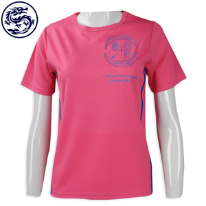 OEM Customized 100 Polyester Custom Design Printing Dry Fit T TEE Shirt Women's Sports Wear