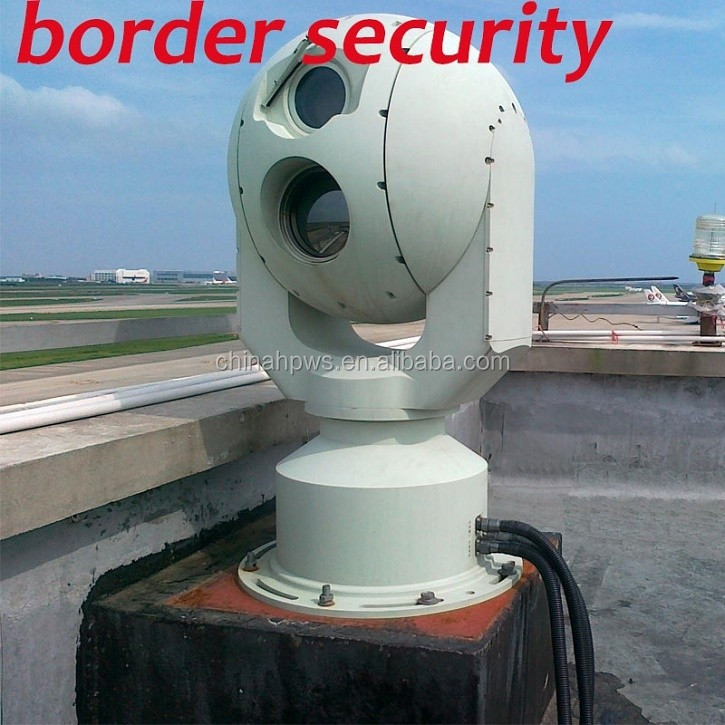 Boarder and Airport security and tracking systems surveillance IP camera infrared laser thermal imaging