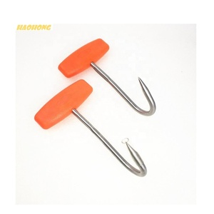T shape 5 inch Plastic handle stainless steel meat bone butcher hook