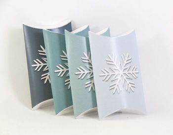 Snowflake Pillow Boxes Diy Christmas Decoration / Gift Box / Table ...