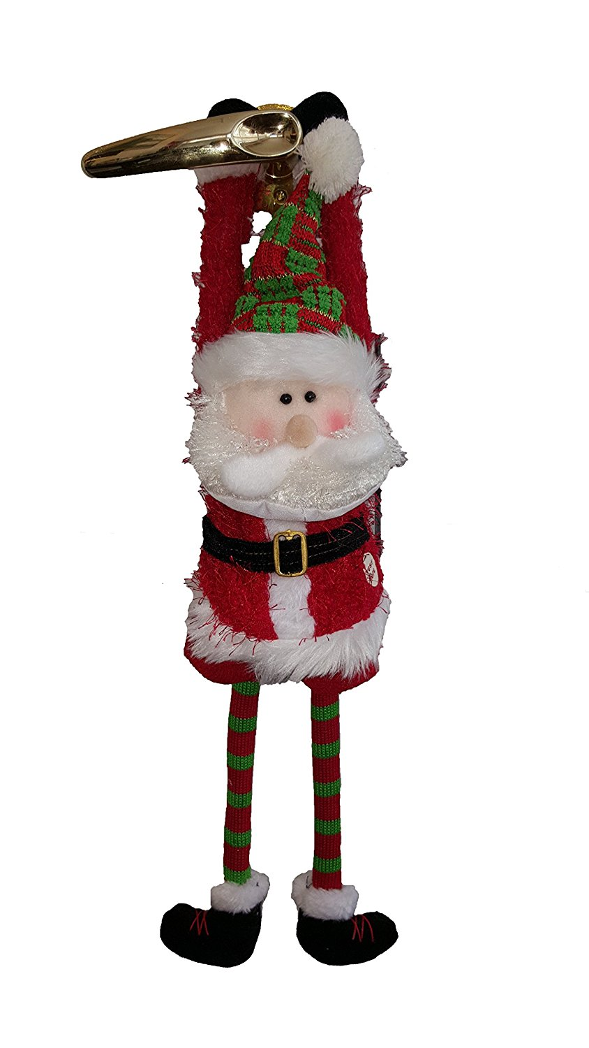 get quotations sale musical animated christmas santa door knob hanger 22 tall plays - Musical Animated Christmas Decorations